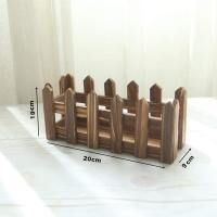 Picture of Lingwei Natural Wooden Fence For Artificial Plants