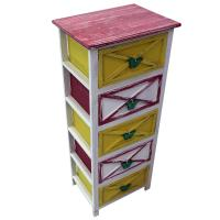 Picture of Lingwei Retro Antique Wooden Cabinet, Multicolor