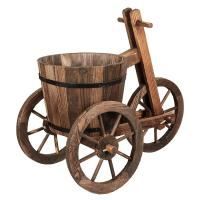 Picture of Lingwei Tricycle-Shaped Wooden Flower Pot 70.5 X 61.5 X 34.7Cm