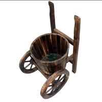 Picture of Lingwei Tricycle Shaped Wooden Flower Pot, Brown