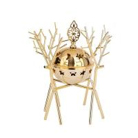 Picture of Ling Wei Abstract Branch Design Bakhoor Incense Burner, Gold