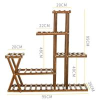 Picture of Outdoor 6 Shelves Wooden Flower Stand