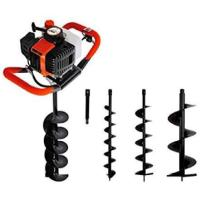 Picture of 52Cc 2-Stroke Petrol Earth Auger Post Hole Borer Ground Drill, 100cm