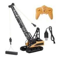Picture of Huina 12 Channel RC Tower Crane, 1585, Yellow & Black