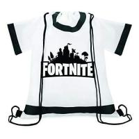 """Picture of """"Fortnite"""" Printed T-Shirt Shaped Drawstring Bag"""