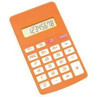 Picture of 8 Digit Calculator In Orange Colour, Soft Keyboard