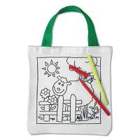 Picture of Cotton Tote Bag With 5 Colouring Pens