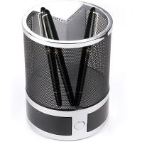 Picture of Desktop Alarm Clock Grid Pen Pencil Stand Black