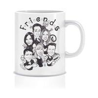 Picture of Friends Theme Mug -White