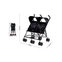 Picture of Two Seater Umbrella Type Stroller, Black