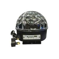 Picture of Bluetooth Crystal Ball LED Bulb with MP3 Player, Black & Silver