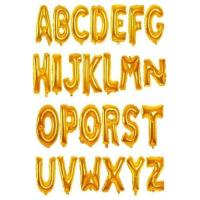 Picture of English Alphabets Party Foil Balloon, Gold, 26Pcs