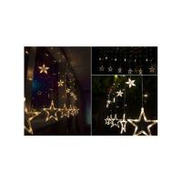 Picture of Star Shaped Curtain Fairy 138 String LED Lights, Yellow, 2 m