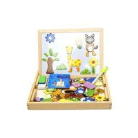 Picture of Wooden Magnetic Puzzle Drawing Board Toy