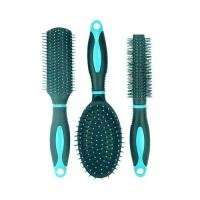 Picture of Paddle Hair Brush Set, Green & Blue - Set of 3