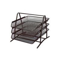 Picture of Metal Mesh 3-Tier Document Tray - Black