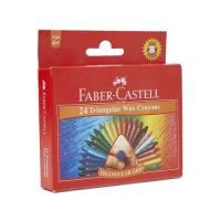 Picture of Triangular Wax Crayons Set, Multicolour - Set of 24