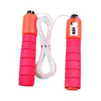 Picture of Tomshoo Skipping Rope for Kids, 8.8 ft, Red & Pink