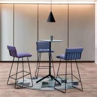Picture of Neo Front Fabric High Counter Bar Chair, Blue