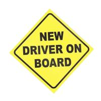 Picture of Pack Of 3 Pieces New Driver On Board Temporary Car Vinyl Stickers