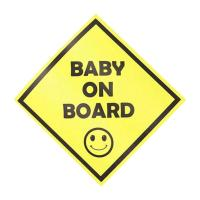 """Picture of Pack Of 3 Pieces""""Baby On Board"""" Temporary Car Vinyl Sticker"""