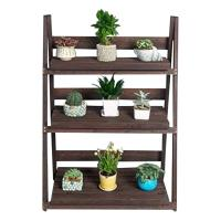 Picture of 3 Tier Foldable Wooden Plant Stand, Brown