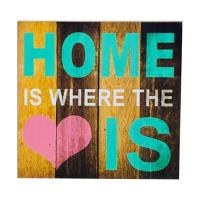 Picture of Ling Wei Vintage Style Wooden Wall Hanging Decor, Multicolor