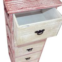 Picture of Retro Antique Wooden Cabinet, White & Red