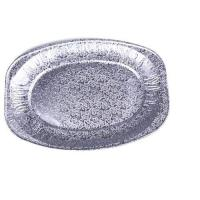 Picture of Aluminium Foil Oval Platter, 14 inch, Silver - Pack of 100