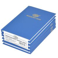 Picture of FIS Square Line Manuscript Book A6 2Q Set Of 5, Blue, 5mm, Pack of 160