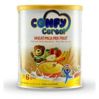 Picture of Confy Cereals Wheat Milk Mix Fruit Tin, 400g, Pack of 12 - Carton