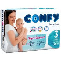 Picture of Confy Premium Size 3 Midi Baby Diaper, 36 Pieces, Pack of 5 - Carton