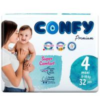 Picture of Confy Premium Size 4 Maxi Baby Diaper, 32 Pieces, Pack of 5- Carton