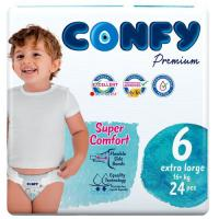 Picture of Confy Premium Size 6 Extra Large Baby Diaper, 24 Pieces, Pack of 5 - Carton