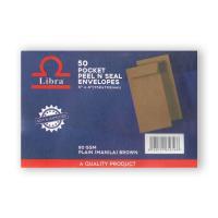 Picture of Libra Brown Pocket Envelopes 85gsm 6x4, Carton of 5000 Pieces
