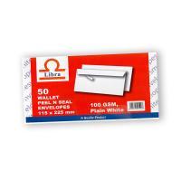 Picture of Libra White Wallet 100gsm Envelopes, Peel & Seal, Carton of 5000 Pieces