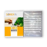 Picture of Sorex Self-Adhesive 4 Labels, A4 100 Sheets, 99x1x144mm, Carton of 10 Boxes