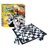 Picture of Funville Game Time Chess & Draughts Game for Kid's, Black and White, Pack of 12