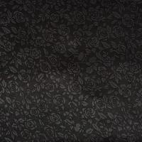 Picture of DuPont Satin Fabric Embossed with Floral Design Roll, Black - 25 Yards