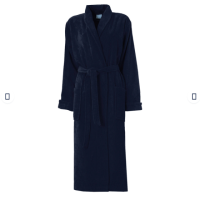Picture of Wtx Silky Plush Robe With Shawl Collar, Navy Blue, Medium, Pack of 6