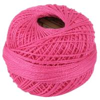 Picture of Crochet 95Y Cotton Yarn Thread Balls, Pink - Pack Of 100
