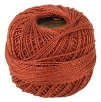 Picture of Crochet 95Y Cotton Yarn Thread Balls, Dark Terra Cotta - Pack Of 100