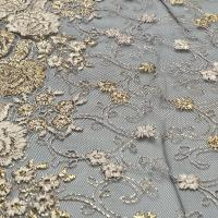 Picture of Floral Design 15Y Metallic Net Lace, Multicolour - Pack Of 50