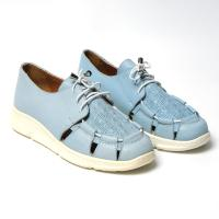 Picture of Leather Apron-Toe Lace-Up Casual Shoes - Carton of 12