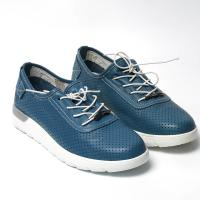 Picture of Leather Plain-Toe Lace-Up Casual Shoes - Carton of 12