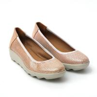 Picture of Leather Round-Toe Ballerina Shoes, White - Carton of 12