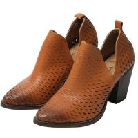 Picture of Leather Slip-On Ankle Boots With Heel, 3Inch - Carton of 12