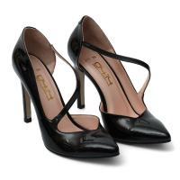 Picture of Leather Pointed-Toe Elastic-Strap Pencil Heels, 4Inch - Carton of 12