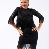 Picture of Fitted Short Lace Skirt, Black - Pack of 12