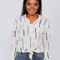 Picture of Knotted Long-Sleeve Shirt, White - Pack of 12, Free Size